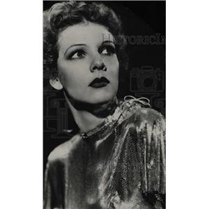 1933 Press Photo Elissa Landi Hollywood Actress. - RRW81409