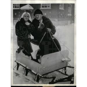 1935 Press Photo Jean Hersolt Dorothy Patterson North - RRX36159