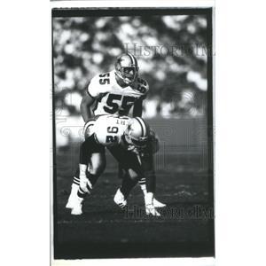 1990 Press Photo No. 55 Jack Del Rio, Cowboys - RSC26053