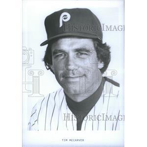 Press Photo Tim McCarver Philadelphia Phillies - RSC34793