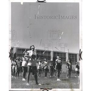 1953 Press Photo Baton Twirlers Airborne Maneuvers - RRW34109