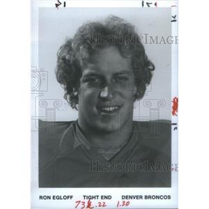 1981 Press Photo Tom Glassic Guard Denver Broncos - RSC25983
