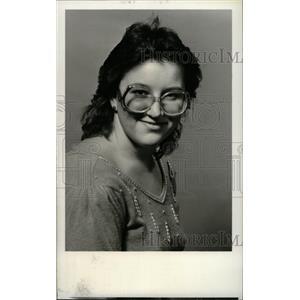 1985 Press Photo Kim McGuckin obichard high volleyball - RRW96283