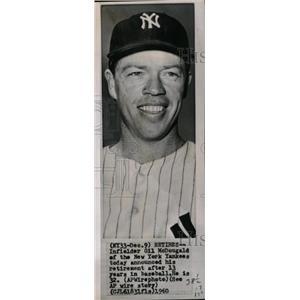 1960 Press Photo Gil McDougald Infielder Baseball - RRW73657