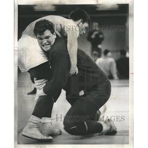 1968 Press Photo Addison Trail High Wrestling - RRW41847