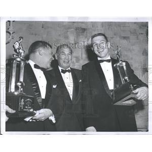 1960 Press Photo Carroll Rosenbloom Men Trophies