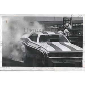 1971 Press Photo Denver Dick Custy burnout funny car - RRX99545