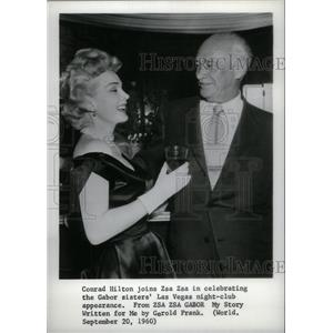 1960 Press Photo Actress Zsa Zsa Gabor & Conrad Hilton - RRX41385