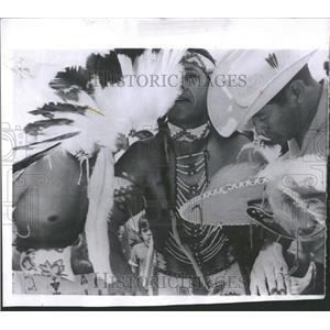 1959 Press Photo Kiowa Indian Warrior