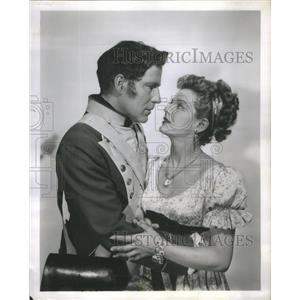 1954 Press Photo Hugh Marlowe Marjorie Lord Her Kind of Honor