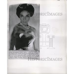 1963 Press Photo Diahann Carroll Theater Actress Singer - RRW19985