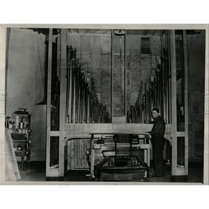 1940 Press Photo Indiana State Prison Michigan Pipe - RRW58759