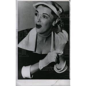 1953 Press Photo Actress Claire James Miss California - RRW82113