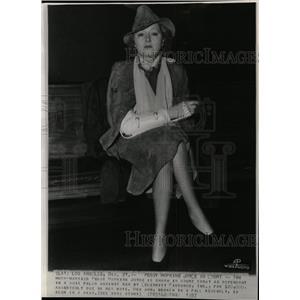 1937 Press Photo Peggy Hopkins Joyce American Actress - RRW19897