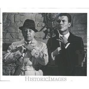 1968 Press Photo George Raft and Roger Smith,actors