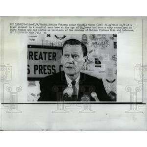 1968 Press Photo Veteran Actor Wendell Corey