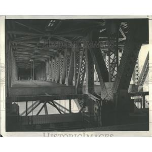 1937 Press Photo Michigan Avenue bridge Outer Drive
