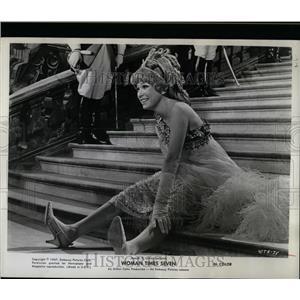 1967 Press Photo Woman Times Seven Palace Steps Scene - RRW07793