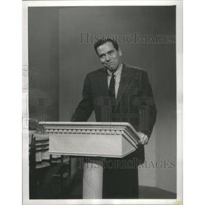 1957 Press Photo Actor Ted Reid character Bobo NBC TV Dinah Shore Chevy Show