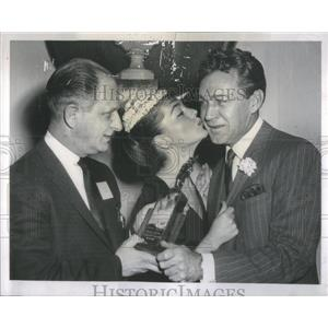 1960 Press Photo Forrest Tucker Music Man Joan Weldon Actors Byron Friedman