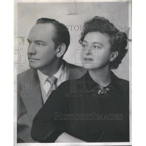 1951 Press Photo Fredric March and Florence Eldridge Actor/Actress - RSC06617