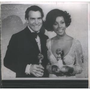 Press Photo Golden Globe winners Carl Betz and Diahann Carroll - RSC86939