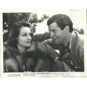 1939 Press Photo Smuggled Cargo Film Actors Hudson Mackey Scene - RSC99269
