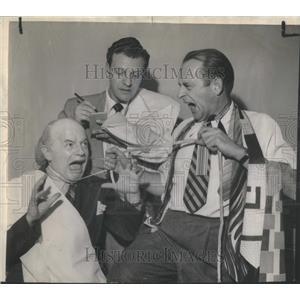 1948 Press Photo Chicago Theater Actors William Lynn Jack Martin Eddie Foy Jr.