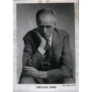 1951 Press Photo Harry Sinclair Lewis Nobel Prize - RRW79891