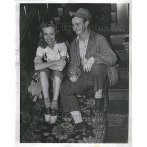 1939 Press Photo Brackett Denniston Kay Littlefield Actor Actress - RSC04977