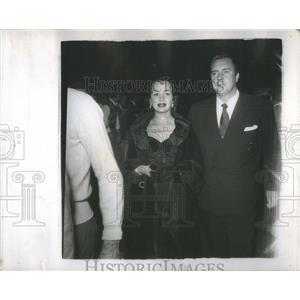1950 Press Photo Olga San Juan star Hollywood husband Edmond Brien daughter