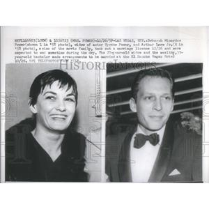 1959 Press Photo Deborah Minardos Power Actor Tyrone Arthur Loew - RSC07213