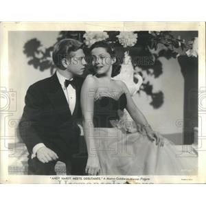 1940 Press Photo Diana Lewis Mickey Rooney In Movie Andy Hardy Meets Debutante