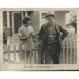 1928 Press Photo Actor Will Rogers In Movie Jus Passin Through - RSC47105