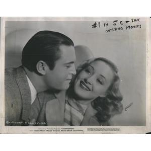 1936 Press Photo Chester Morris Marian Marsh Counterfeit film - RSC99457