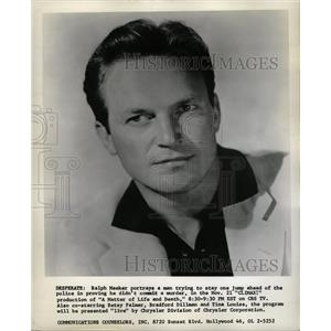 1957 Press Photo Ralph Meeker Stage Film Actor Chicago - RRW24917