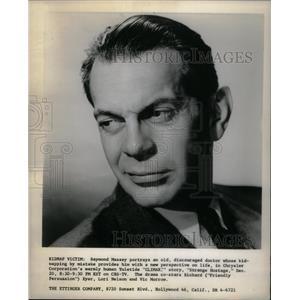 1956 Press Photo Raymond Massey American Film Actor - RRX25603