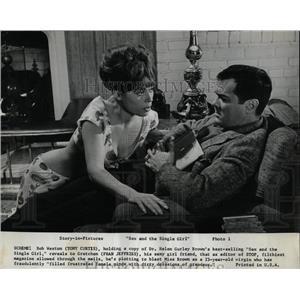 1964 Press Photo Tony Curtis Fran Jeffries Actors - RRW86329