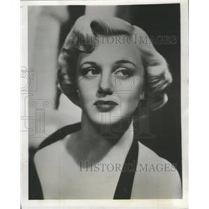 1953 Press Photo Actress Jan Sterling Blonde Curls - RRW28647