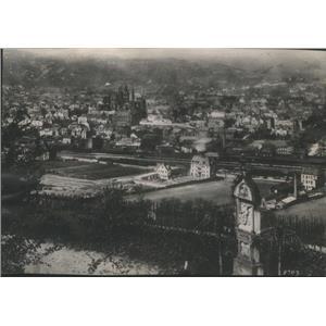1918 Press Photo German City Treves Aerial View American Soldiers Policed
