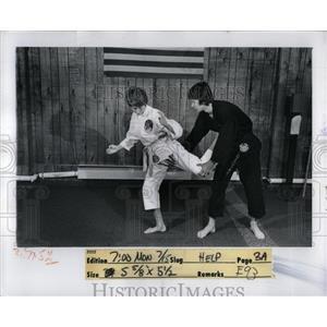 1974 Press Photo Karate Student Katie Kalb Royal Blank