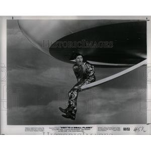 1960 Press Photo Lewis Stars In Visit To Another Plane - RRX24017