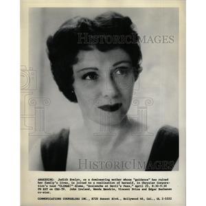 1957 Press Photo Judith Evelyn (Actress) - RRW20837