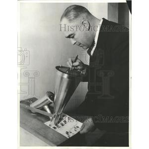 1935 Press Photo Dactyloscope Print records diameter - RRX87877