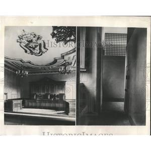 1931 Press Photo Vatican City Jail/Courtroom/Criminals - RRX85439