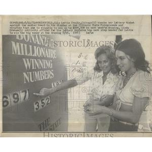 1974 Press Photo Illinois Lottery