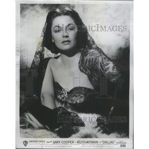 """1951 Press Photo Ruth Roman co-stars with Gary Cooper in """"Dallas"""" - RSC39133"""