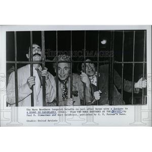 1968 Press Photo The Marx Brothers Jail Brothers Movies - RRW77575