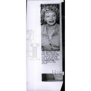 1953 Press Photo Actress Gilda Gray - RRW71333
