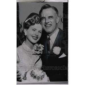 1953 Press Photo Coleen Gray Second Husband W. Bidlack - RRW72919